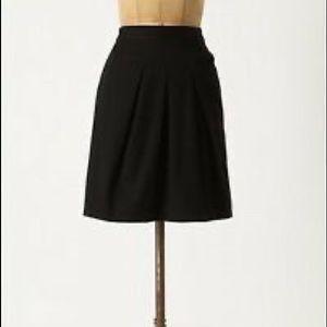 Anthropologie Tabitha Black Runny Yoke Skirt Sz 2